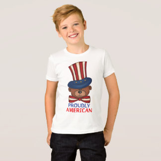 "Proudly American""Kids T-shirt"