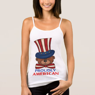 "Proudly American""Women's Tank Tops"