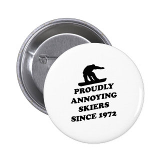 Proudly Annoying Skiiers Since 1972 2 Inch Round Button