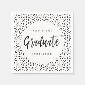 Proudly Brushed Graduation Party Napkins Disposable Napkin