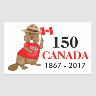 Proudly Canadian Beaver 150 Anniversary Sticker