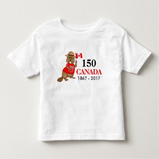 Proudly Canadian Beaver 150 Anniversary Toddler T-shirt