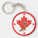 Proudly Canadian Beaver Key Chain
