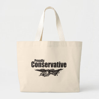 Proudly Conservative with Eagle Jumbo Tote Bag