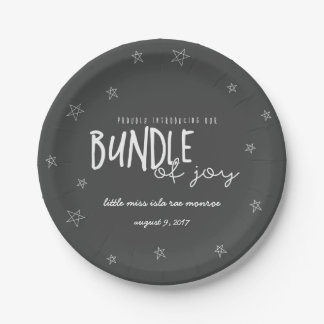 PROUDLY INTRDUCING OUR BUNDLE OF JOY B/W PAPER PLATE