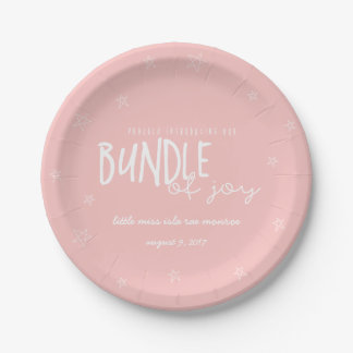 PROUDLY INTRDUCING OUR BUNDLE OF JOY(BLUSH) PAPER PLATE