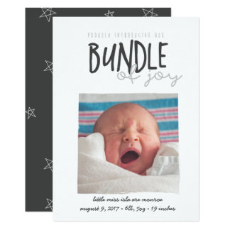proudly introducing our bundle of joy card