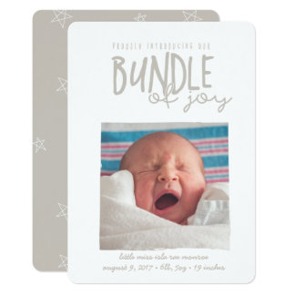 proudly introducing our bundle of joy-latte card
