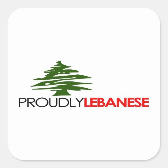 Proudly Lebanese, Lebanese And Proud - Lebanon Square Sticker