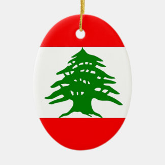 Proudly Lebanese - Proud To Be Lebanese - Lebanon Ceramic Ornament