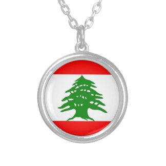 Proudly Lebanese - Proud To Be Lebanese - Lebanon Silver Plated Necklace