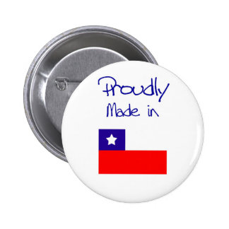 Proudly made in chile button. 2 inch round button