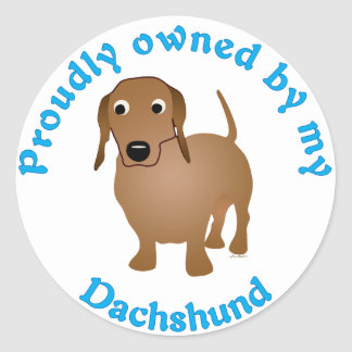 Proudly Owned by my Dachshund Classic Round Sticker
