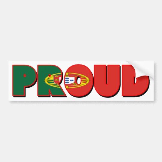 Proudly Portuguese Bumper Sticker