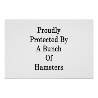 Proudly Protected By A Bunch Of Hamsters Poster