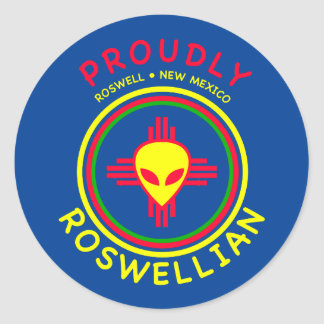 Proudly Roswellian Round Sticker