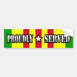 Proudly Served / Vietnam Bumper Sticker