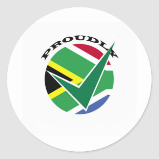 Proudly South African Classic Round Sticker