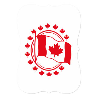 Proudly Wave Canada Day Party Invitation
