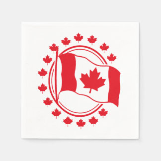 Proudly Wave Canada Day Party Paper Napkins