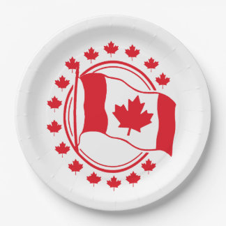 Proudly Wave Canada Day Party Paper Plates