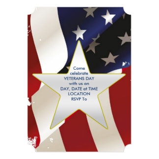 Proudly Wave Veterans Day Party Invite