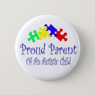 ProudParentPuzzleshirt 2 Inch Round Button
