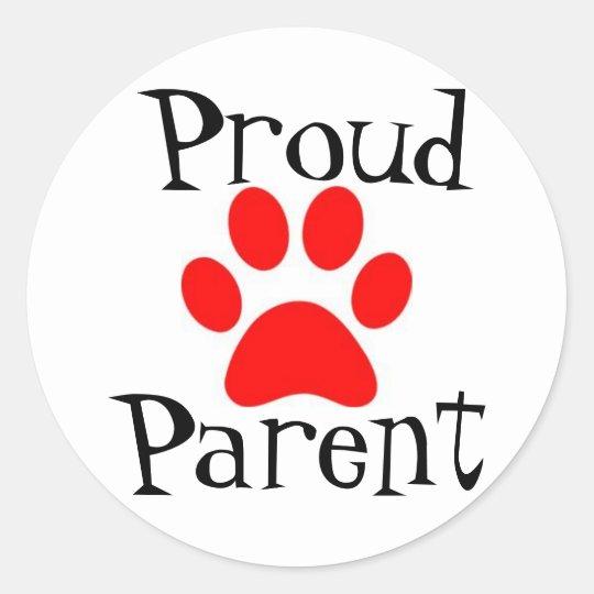 Pround parent classic round sticker