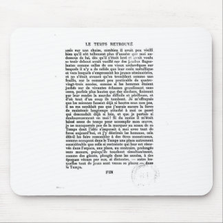 Proust: Final page of Time Regained Mouse Pad