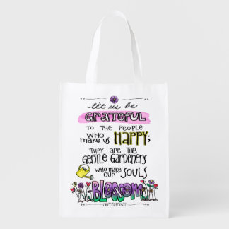 Proust Quote Let Us Be Grateful Reusable Bag