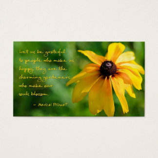 Proust Quote Thank You Business Card