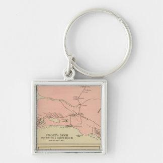 Prouts Neck Scarborough, Higgins beaches Silver-Colored Square Keychain