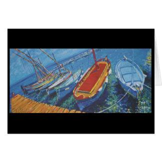 Provence fishing boats card