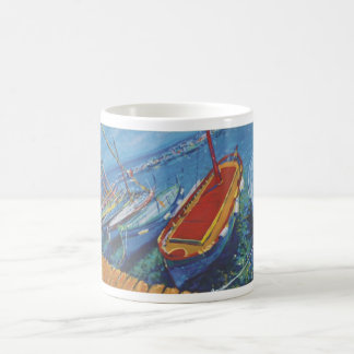 Provence fishing boats coffee mug
