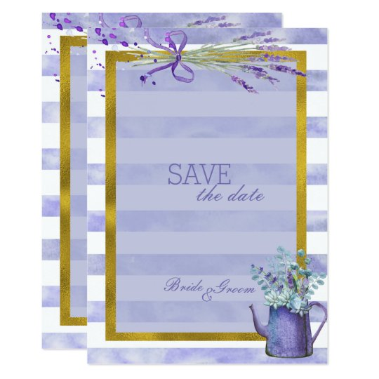 Provence Lavender Purple Flower  SAVE the Date Card