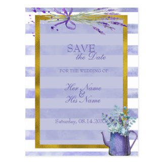 Provence Lavender Purple Flower SAVE the Date Postcard