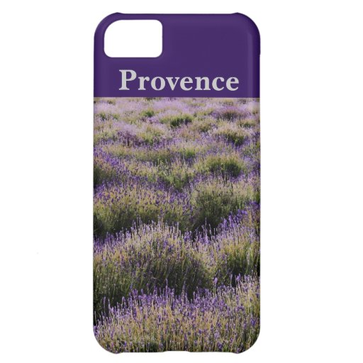 provence lavender with customised area for text case for iPhone 5C