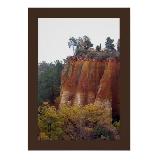 Provence Red Cliffs Poster