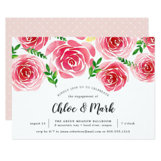 Provence Rose Engagement Party Invitation