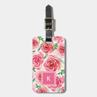 Provence Rose Monogram Luggage Tag