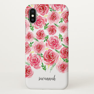 Provence Rose Personalized iPhone X Case