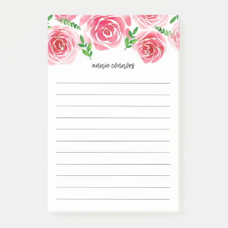 Provence Rose | Personalized Lined Post-it Notes