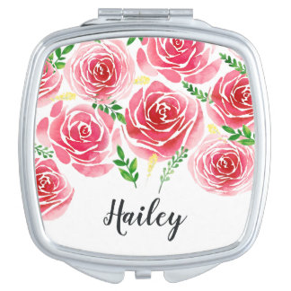 Provence Rose Personalized Makeup Mirror