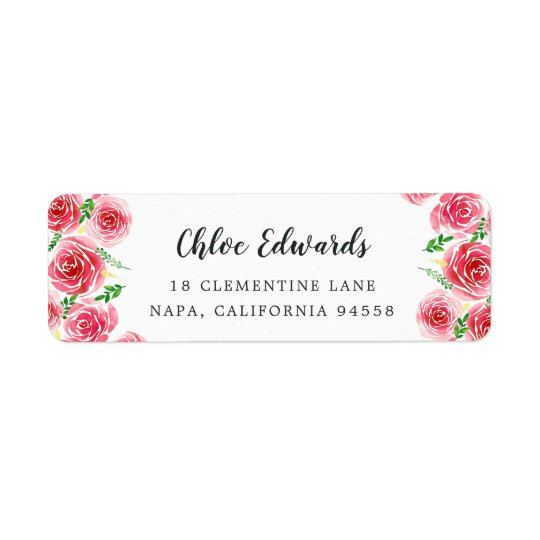 Provence Rose Return Address