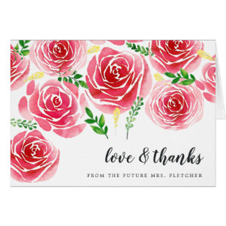 Provence Rose Thank You Card