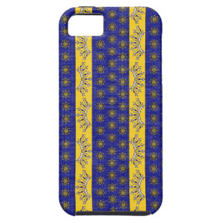 Provence South of France French Blue Gold Pattern iPhone 5 Case