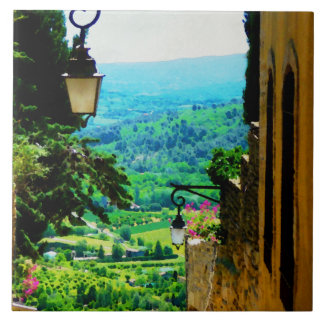 Provence view from Gordes Tile