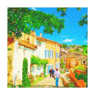 Provence village of Menerbes, France. Canvas Print