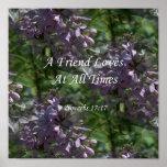 proverbs17-17 ~ Lilacs Poster
