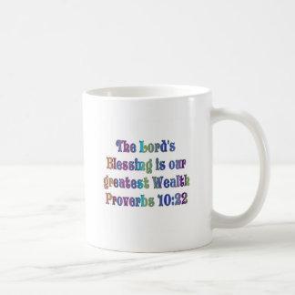 Proverbs 10:22 classic white coffee mug